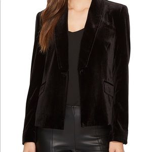 1.State Velvet Tuxedo Blazer Black Size 6